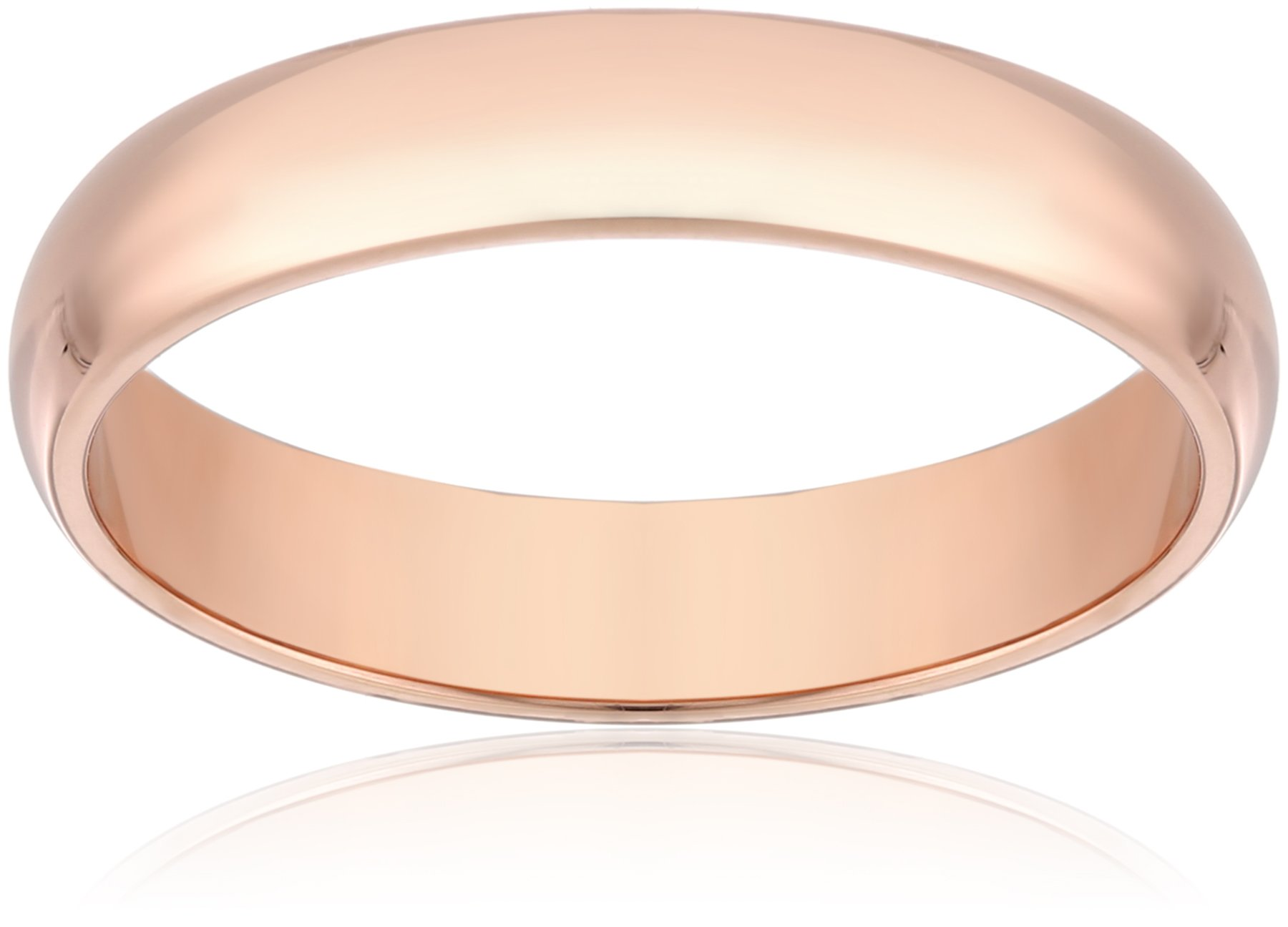 Classic Fit 14K Rose Gold Band, 4mm, Size 9