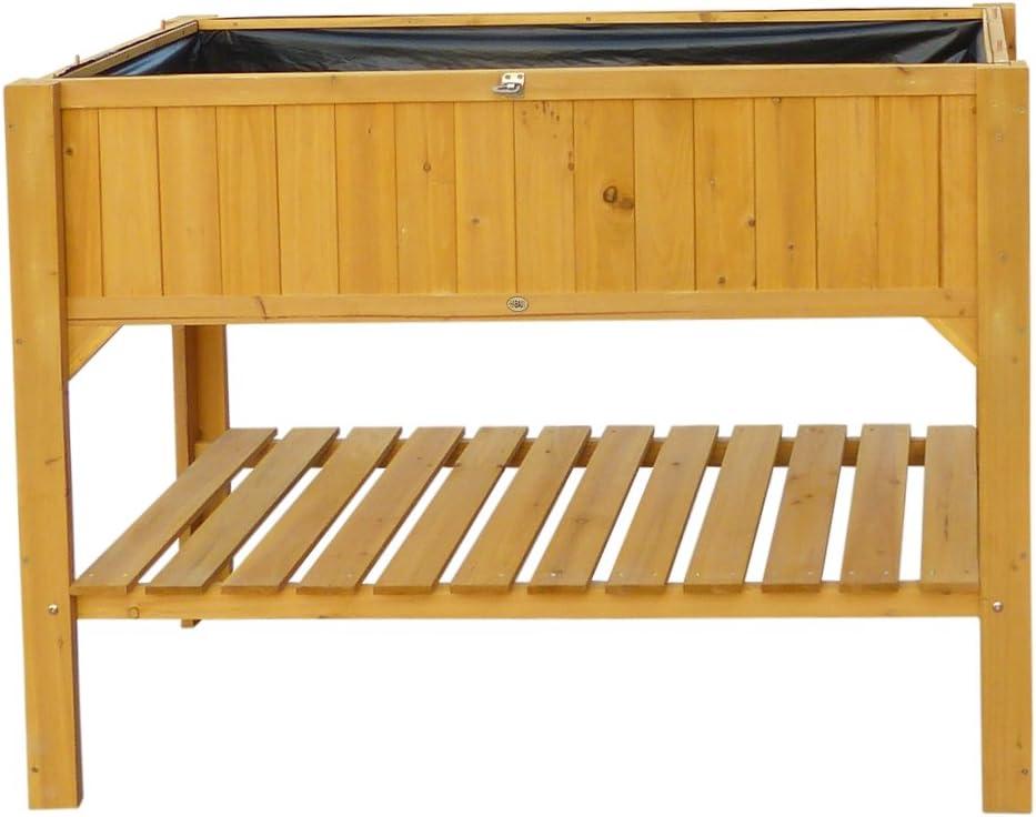 HABAU - Caseta de Exterior para Cultivos de Suelo Alto, 119 x 57 x 90 cm, Color Amarillo
