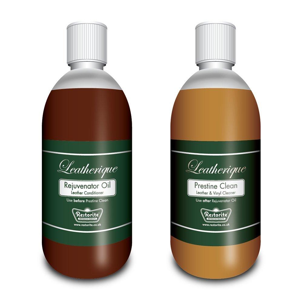 Leatherique Rejuvenator Oil & Prestine Clean (twin pack) Leather Cleaner & Conditioner: 2 x 250ml
