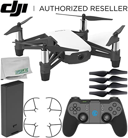 Ryze Tello Quadcopter Drone with HD Camera and VR - Powered by DJI  Technology and Intel Processor with GameSir T1d Bluetooth Gaming Controller  Starter