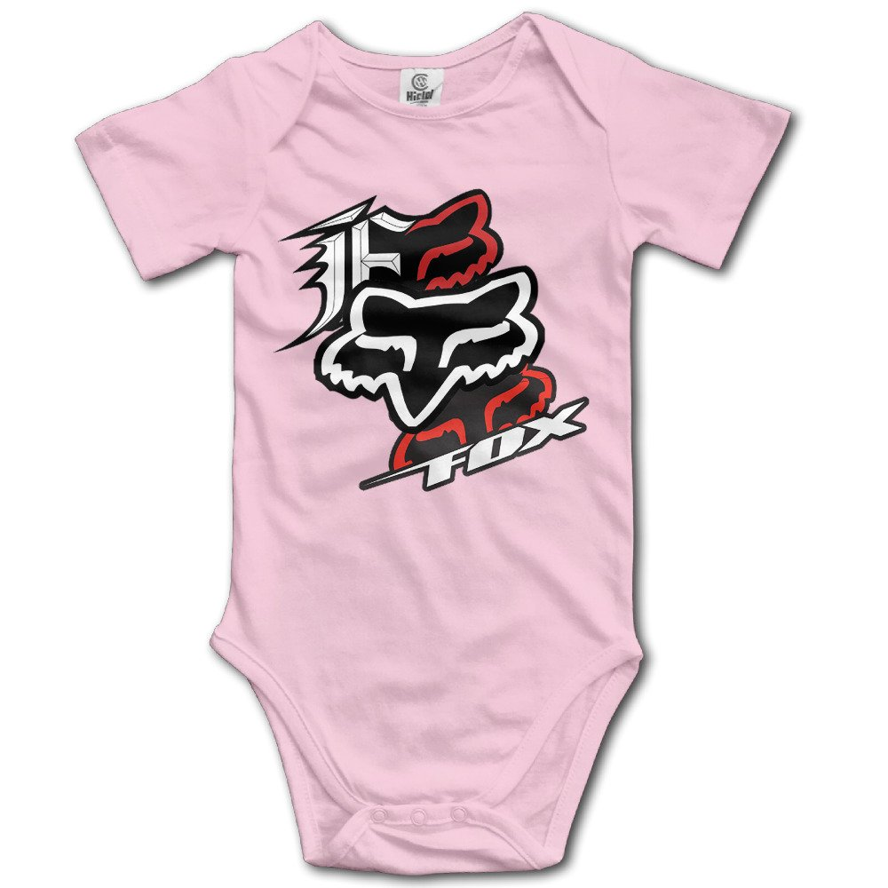 IEEFTA Fox Racing Logo Baby Climbing Clothes Bodysuit