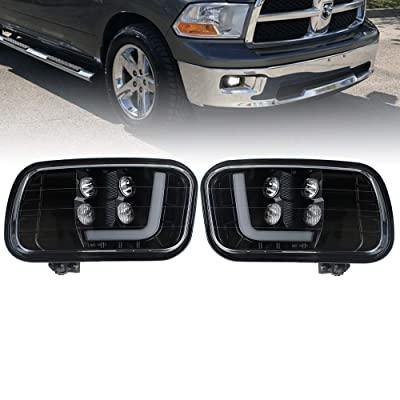 KUQIQI LED Fog Light Passing Lamps for Dodge Ram (09-12 RAM 1500 2500 3500): Automotive