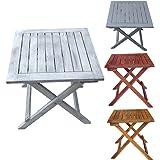 """Tavolo tavolino pieghevole in legno """"Dionysos"""" - arredo esterno - tavolo da giardino - campeggio - molti colori - resistente alle intemperie - eucalipto"""