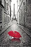 "Paris Poster Eiffel Tower Umbrella (24""x36"")"