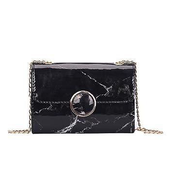 7803556fe57ab Damen Marble Pattern Lackleder Umhängetasche Handytasche Mode Kette  Crossbody Messenger Tasche Handtasche Abendtasche Elegant Frauen Tote