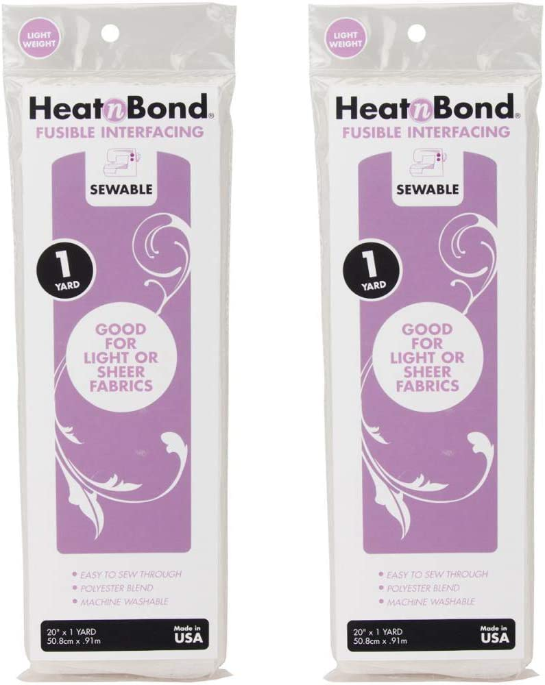 """Thermoweb 3336 Heat'n Bond Light Weight Iron-On Fusible Interfacing-White 20""""X36"""" (2-PACK)"""
