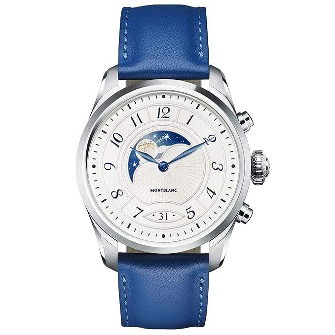 Reloj Montblanc Summit 2 Smartwatch 119722 Acero y Correa de Piel Azul: Amazon.es: Relojes