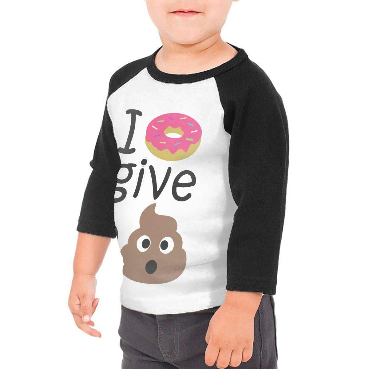 Manlee I Donut Give A Shit Unisex 100/% Cotton Childrens 3//4 Sleeves T-Shirt Top Tees 2T~5//6T