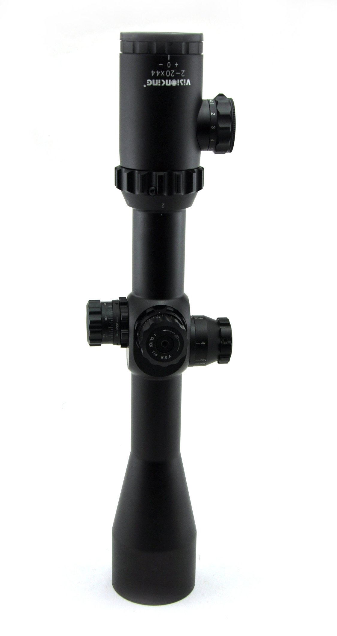 Visionking Rifle Scope 2-20x44 Riflescope 10 times zoom Side Focus Mil-dot Hunting Tactical Rifle scopes Color Black (same, High)