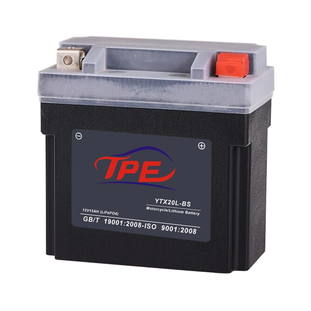 TPE Lithium Iron Motorcycle Battery YTX4L-BS,12V 4Ah with Built-in Battery Management System (YTX4L-BS), AGM Replacement Power Sport Battery DLFP4L-BS