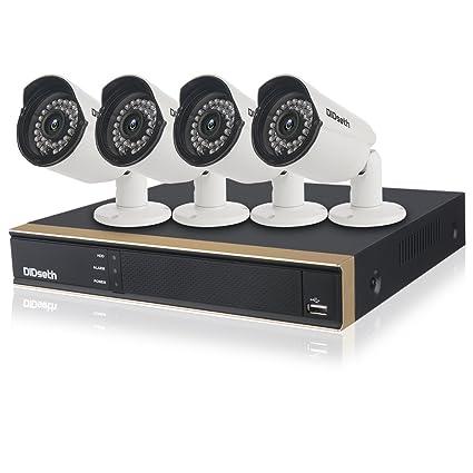 didseth CCTV Cámara Sistema H.264 con 8 CH 1080 N 5 en 1 DVR
