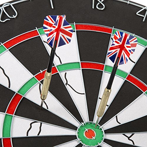 18 inch Double-Sided Dartboard Set - Six 17gm