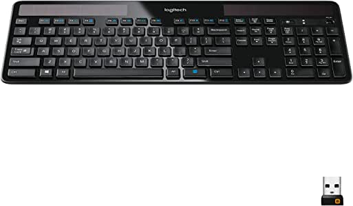 Amazon Com Logitech K750 Wireless Solar Keyboard For Windows Solar Recharging Keyboard 2 4ghz Wireless Black Electronics