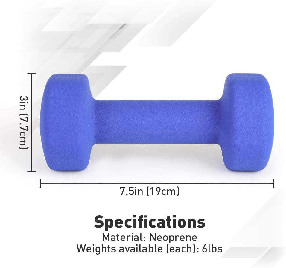 Fitness Dumbbell Set for Muscle Building Strength-Building Weight Management 2-8lbs Hand Weight Set of 2 Non Slip Hexagonal Shape Dumbbell with Easy to Read Number JBM Neoprene Dumbbell Pairs