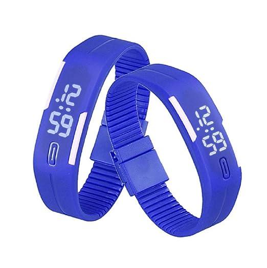 Sannysis Goma Reloj LED Fecha Deportes Pulsera, Digital Reloj de Pulsera, Color (Azul
