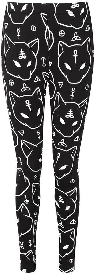 Kill Star Azrael Cat Gato Leggings Leggins Dark Gótico Negro Negro XXL: Amazon.es: Ropa y accesorios