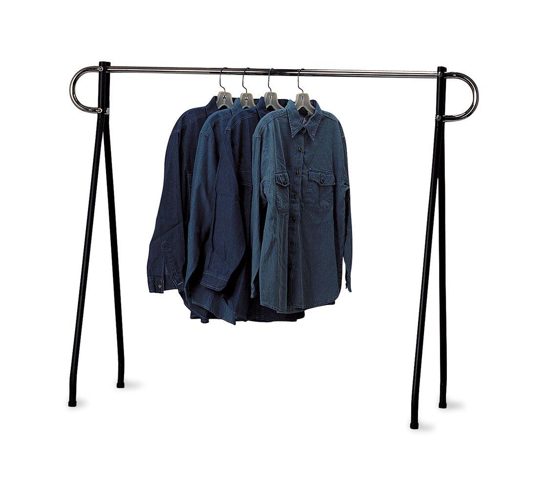 SSWBasics 60 x 60 inch Black & Chrome Single-Rail Garment Rack