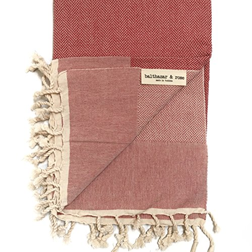 Balthazar & Rose (Product RED Fouta: Herringbone Red