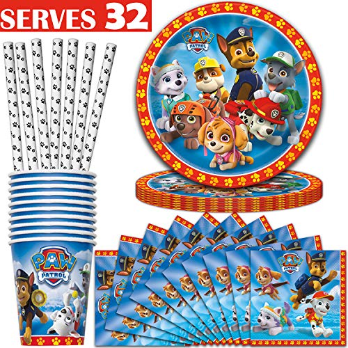 Paw Patrol Party Supplies - Serves 32 - Plates (9
