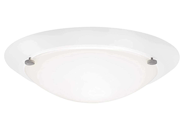 Briloner Leuchten 2118-016 Lampe de salle de bain à 1 ampoules E27, protection IP23 Blanc