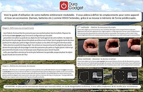 DURAGADGET Mallette de Rangement Personnalisable pour Tous Vos Outils Compartiments en Mousse /à d/écouper