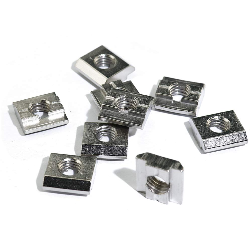 Boeray 50pcs M5 Drop in T Slide Nut for Aluminum Extrusion 3030 Series with Slot 8mm