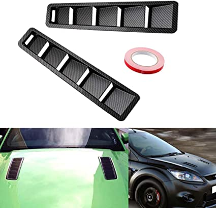 Car Auto SUV Fender Air Flow Intake Hood Cover Carbon Black Style Replacement US