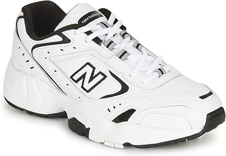 new balance blancas con negro