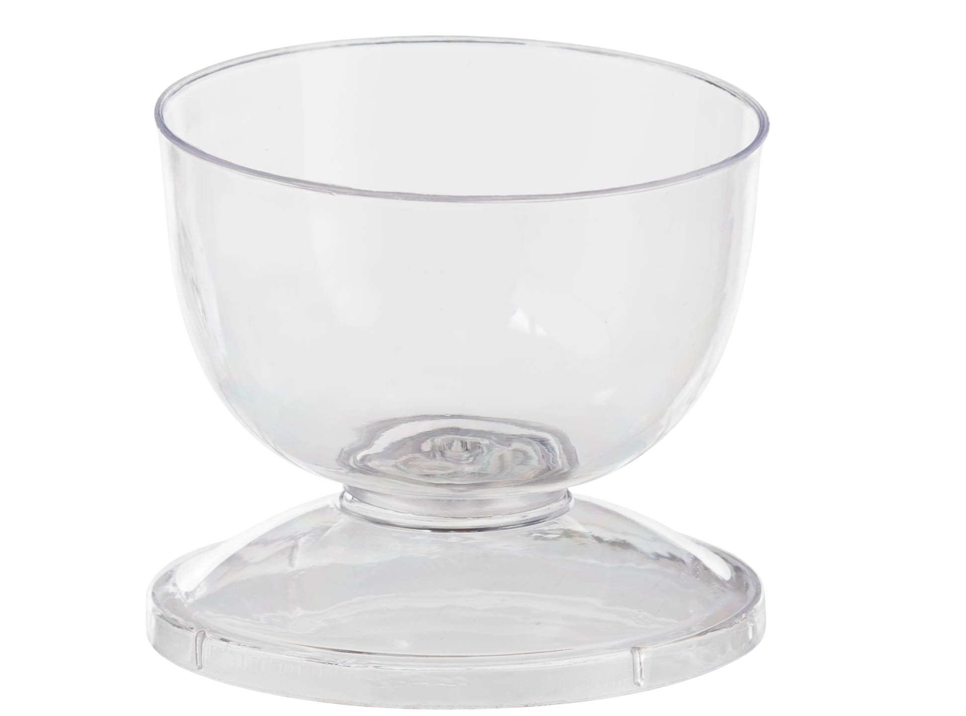 Exquisite 2.75'' Clear Plastic Mini Dessert Cup With Lid/Stand - 5 oz - 20 Count