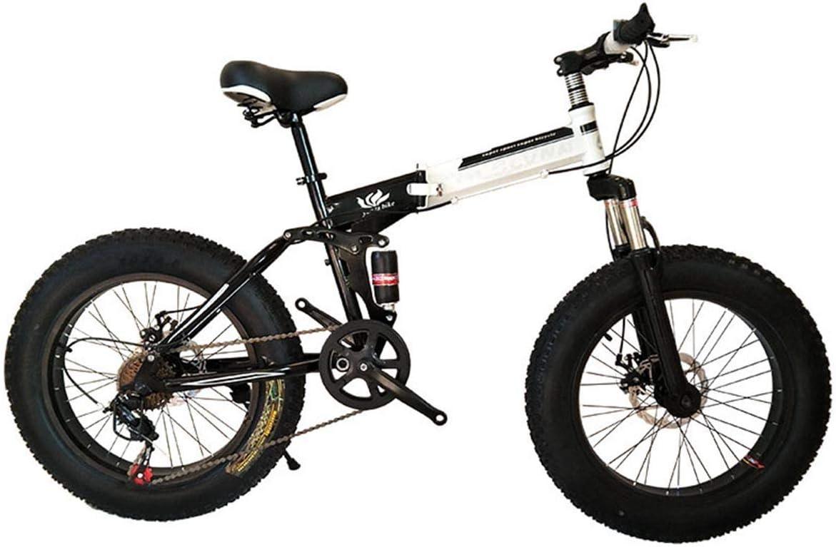 KOSGK Bicicleta Plegable Bicicleta MontañA 26 Pulgadas con Marco Acero SúPer Liviano, Bicicleta Plegable Doble SuspensióN Y Engranaje 27 Velocidades, Negro, 27 Velocidades: Amazon.es: Hogar