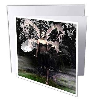 3DROSE GC 26470_ 16x 15,2cm'Wicked Goth Fairy biglietto d' auguri (confezione da 6)