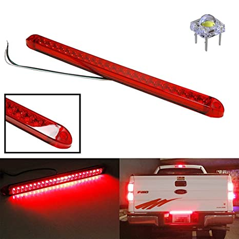 Amazon ijdmtoy 17 trunk tailgate red led light bar for tail ijdmtoy 17quot trunk tailgate red led light bar for tail brake light functions for ford aloadofball Image collections