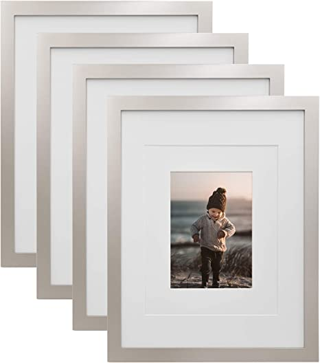 8 x 10 Classic Antique Silver Picture Frames with Glass 11 x 14 Pewter