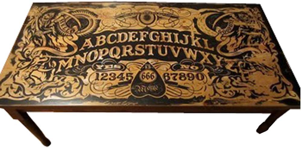 Handmade Ouija Board Coffee Table DIY Plans Spirit Talking Board Home Furniture