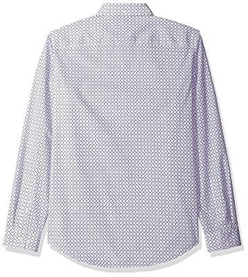 Calvin Klein Men's Long Sleeve Infinite Cool Open Box Printed Button Down Shirt