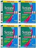 Systane Ultra Lubricant Eye Drops, AZJie 0.33 fl oz (10 ml) 4-Pack (8 Bottles Total)