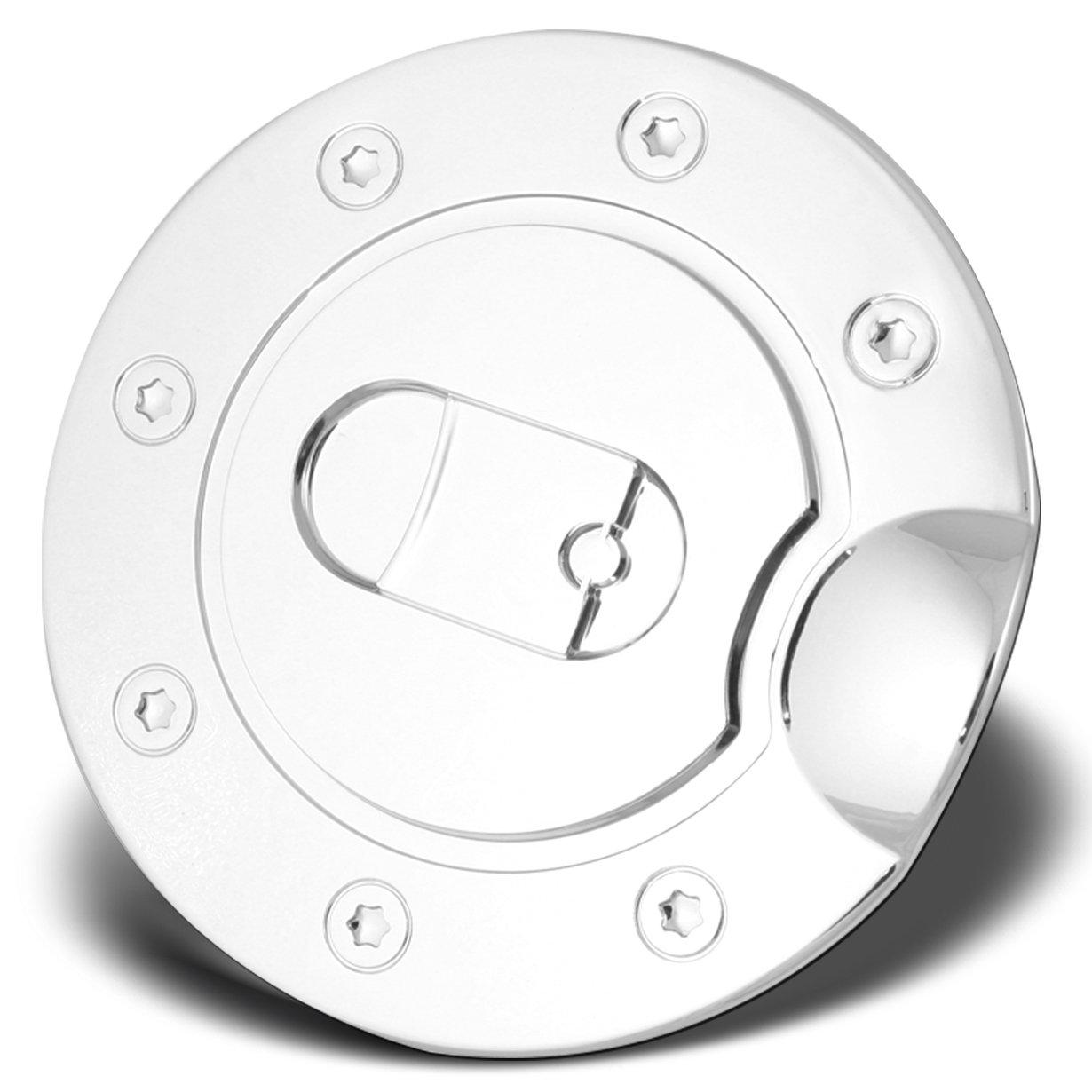 AutoModZone Chrome ABS Fuel Tank Gas Door Cap Cover for 09-17 Dodge Ram 1500 10-17 Dodge Ram 2500 3500