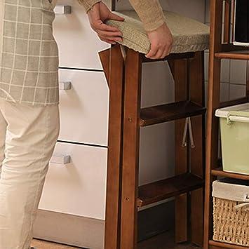 Escaleras multifunción Silla de Escalera, Silla Plegable de Madera, Silla Plegable Moderna Simple, Silla de Cocina Creativa Multifuncional, Banco (Color : Stripe, Size : 42 * 48 * 64cm): Amazon.es: Hogar