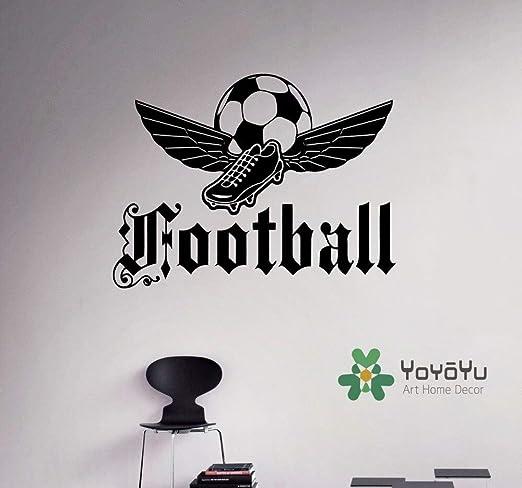 Deportes emblema de fútbol tatuajes de pared del balón de fútbol ...