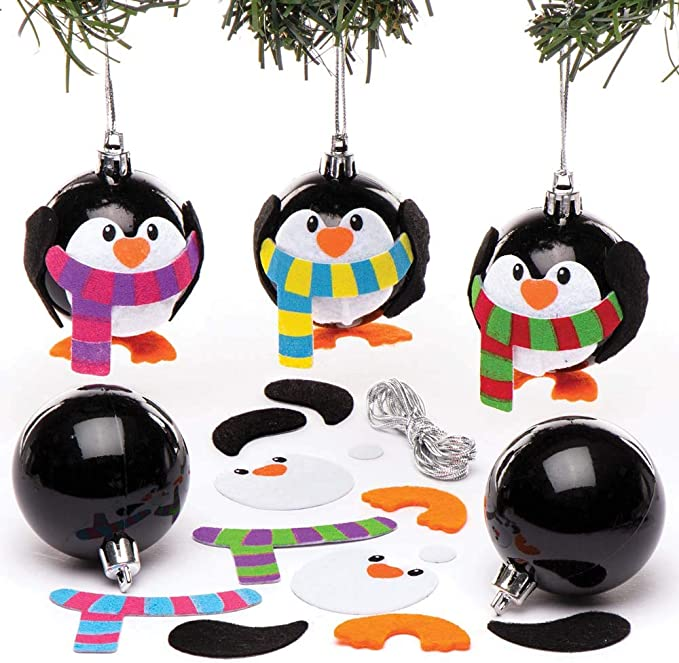 Baker Ross Kits de Bolas de Navidad en Forma de pingüino (Pack de ...