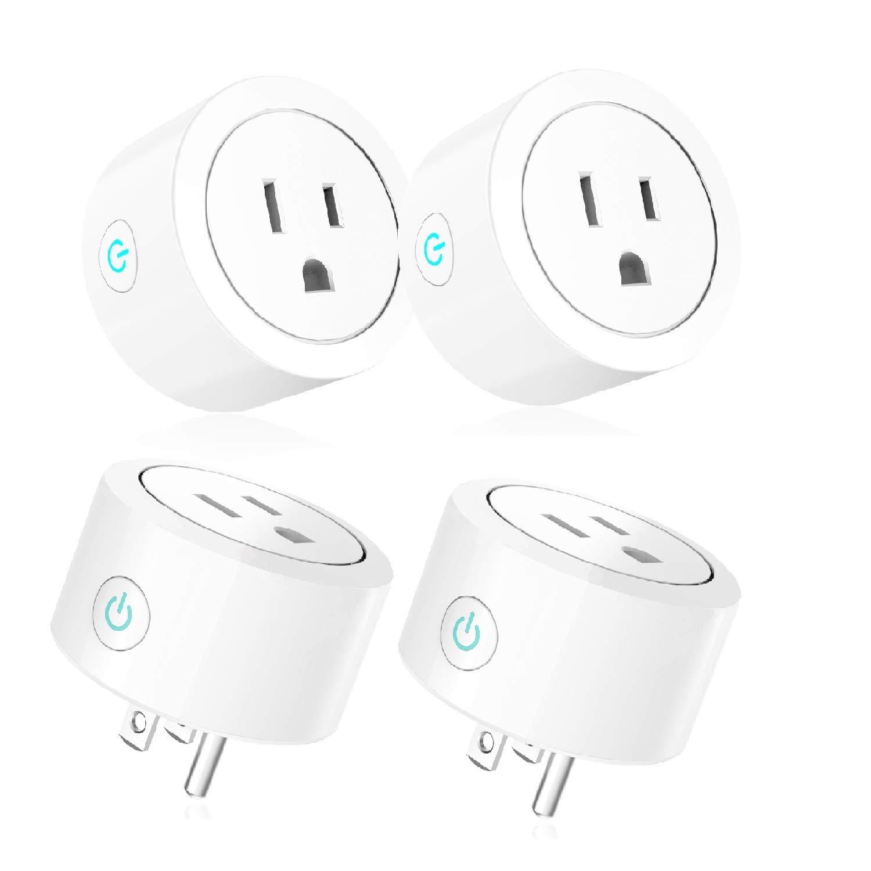 Luntak Mini WiFi Smart Plug Works Alexa Google Home IFTTT no Hub Needed Light Switch 4 Pack