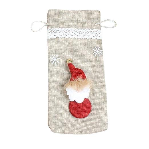Compra Doitsa - Bolsa para Botella de Vino Rojo diseño de Navidad ...
