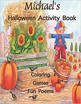 Michael\'s Halloween Activity Book: (Personalized Book for Children ...