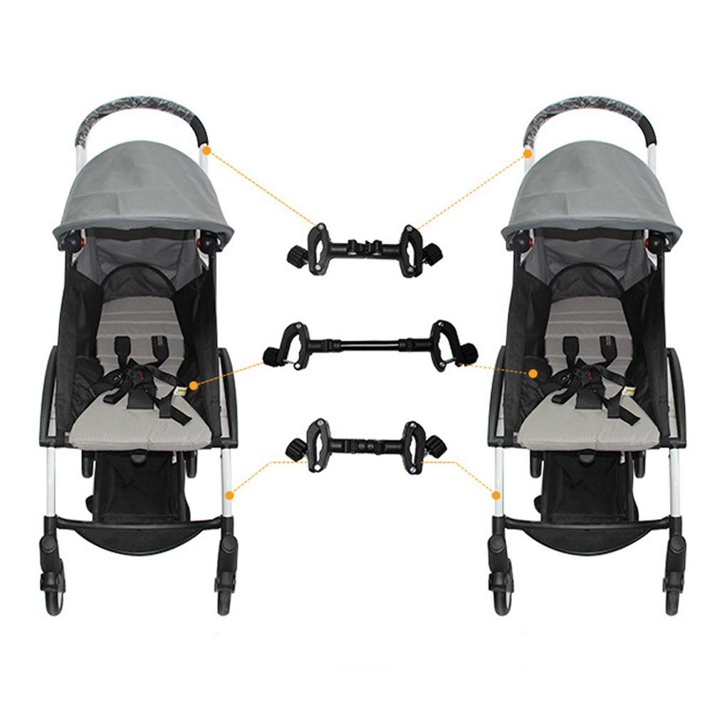 Stroller Connectors, Turn 2 Strollers into an Instant Tandem Stroller, Fits Most Strollers by ROMIRUS (Image #3)