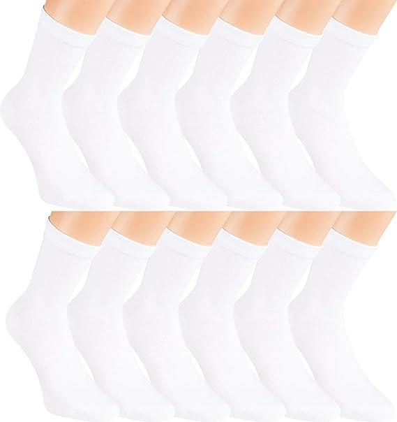 Vitasox Calcetines de señora algodón unicolor, sin elástico, sin ...