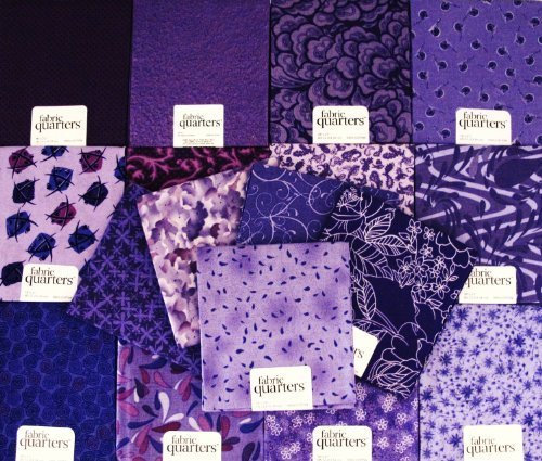FAT QUARTER ~ Set of 10 100 % COTTON ~ PURPLE / LAVENDER ~ Quilt Fabric ~ CRAFTS ~ -