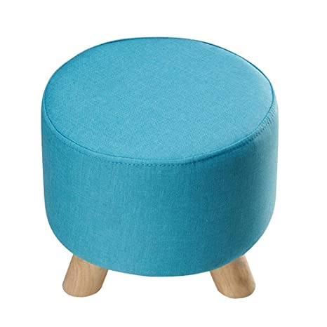 Swell Amazon Com Yxsd Round Small Stool Upholstered Footstool Andrewgaddart Wooden Chair Designs For Living Room Andrewgaddartcom