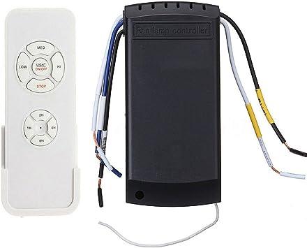 MongKok - Ventilador de techo universal con mando a distancia (110-220 V): Amazon.es: Bricolaje y herramientas