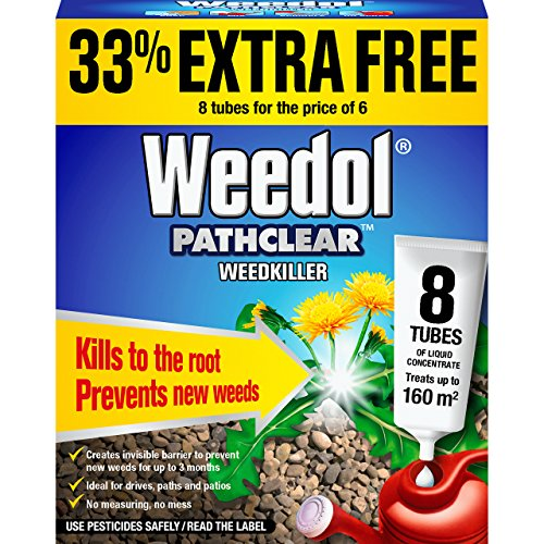 Weedol PathClear WeedKiller Liquid Concentrate Tubes (6+2)
