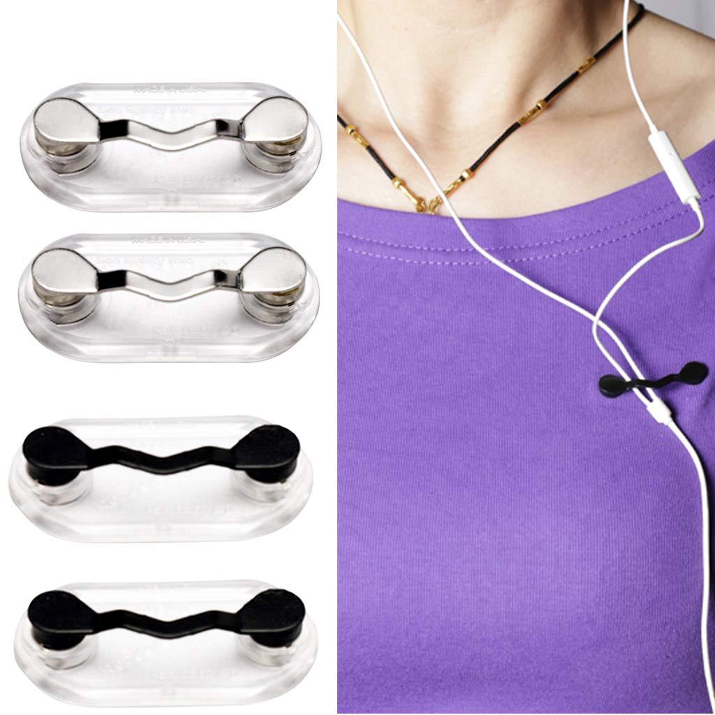 Baoblaze 4pcs Porte-badges Porte-lunettes Magn/étique en Acier Inoxydable